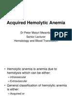 Acquired Hemolytic Anemia Presentation for BPharm