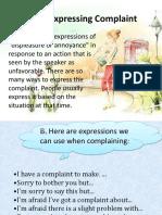Expresing Complain