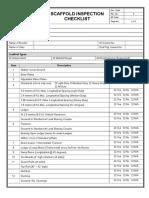 Scaffold Inspection Checklist
