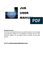 JVR Fingerprint Attendance User Manual