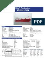 Adfines Sun 9580998 Oil Chemical Tanker 71383