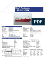 Adfines Sun 9580998 Oil Chemical Tanker 71383