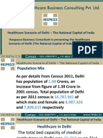 Healthcare Scenario of Delhi Hospaccx Hospital Business Consultant