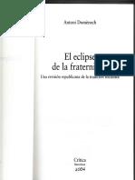 Antoni Domenech. El Eclipse de la Fraternidad. Una revisión republicana de la tradición socialista