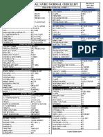 Bae Checklist