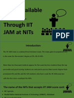 Seats Available for M.Sc. Through IIT JAM at NITs