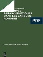 Reinheimer-Ripeanu-Les Dérivés Parasynthétiques Dans Les Langues Romanes-De Gruyter (1974)