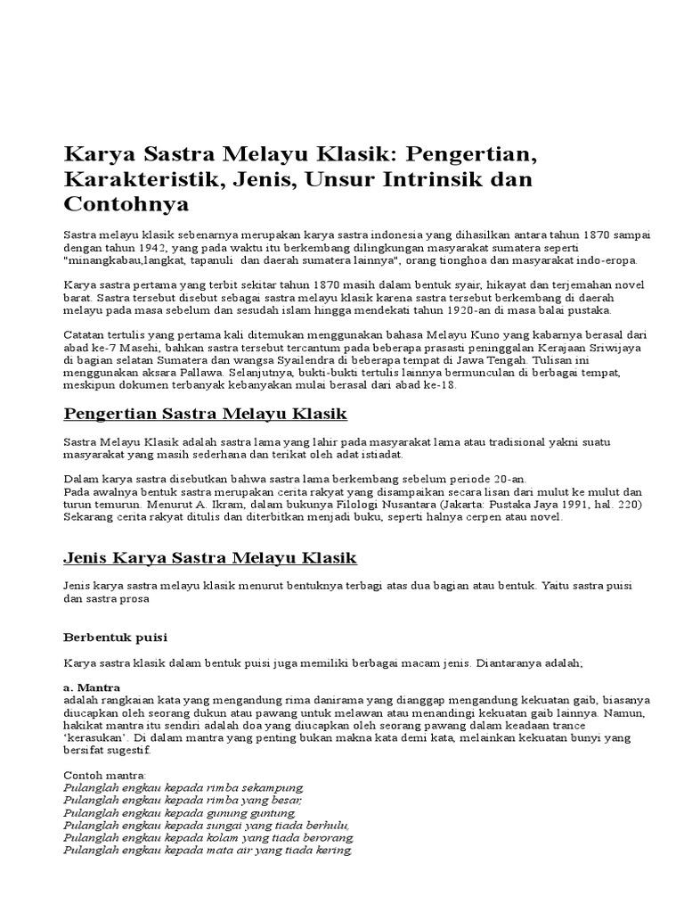 Contoh Cerita Rakyat Melayu Klasik Brad Erva Doce Info