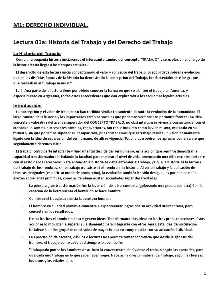 Principios de Derecho Laboral - Modulos 1y2