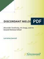 Discordant Melody Alexander Ze