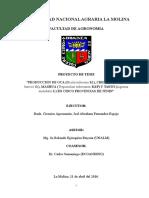 Proyecto de investigación en cultivos andinos