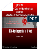 RISK.03 Integrated Cost and Schedule Risk Analysis