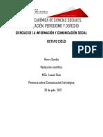 Ponencia Comunicación Estratégica HENRY OMAR