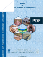 Manual on Artificial Recharge of Ground Water - CGWB, GOI