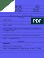 CTS AñO 3 2017 N5 Teoría Social y Deconstrucción