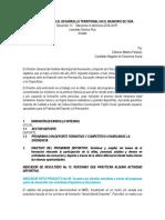 Propuesta Para El Desarrollo Territorial en El Municipio de Chía