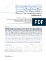 Use of structural equation modelling to empirically study the impact of Organizational climate on employees' work related attitude in Information Technology organizations in Chennai city