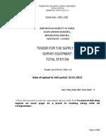 Tender Survey Eqpt Total Station
