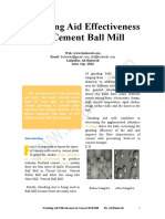 The Effectiveness of the Grinding Aid in Cement Ball Mill 2