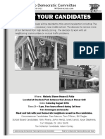 August 19 Meet Your Candidates Flyer