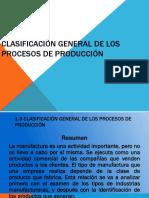 Clasificacion General de Los Procesos de Produccion