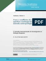 Usos y conflictos de escrituras en quichua santiagueño