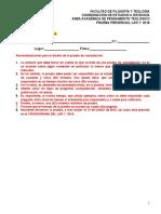 Formato prueba de constatación - TEOLOGÍA - LAR 1° 2016