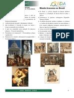 História Da Arte - Neoclassicismo e Missão Francesa Com Questões3ano