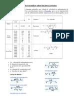 52788964 Calculo de La Velocidad de Sedimentacion de Particulas