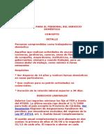 SERVICIO DOMestico - Regimen - Servicio Doméstico