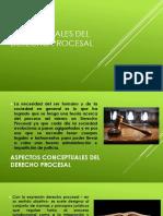 aspectos conceptuales del derecho procesal