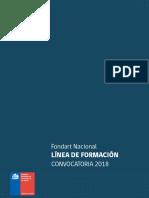 Fondos 2018 Fondart Nacional Formacion