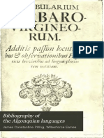 Bibliography of the Algonquian Languages 1891