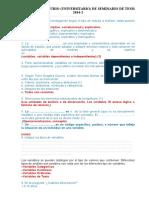 EXAMEN Y SOLUCIONARIO DE SEMINARIO DE TESIS + REEVAL 2014-2