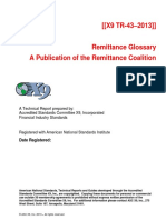 Remittance Glossary