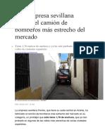BULKANO El Camión de Bomberos Más Estrecho Del Mercado