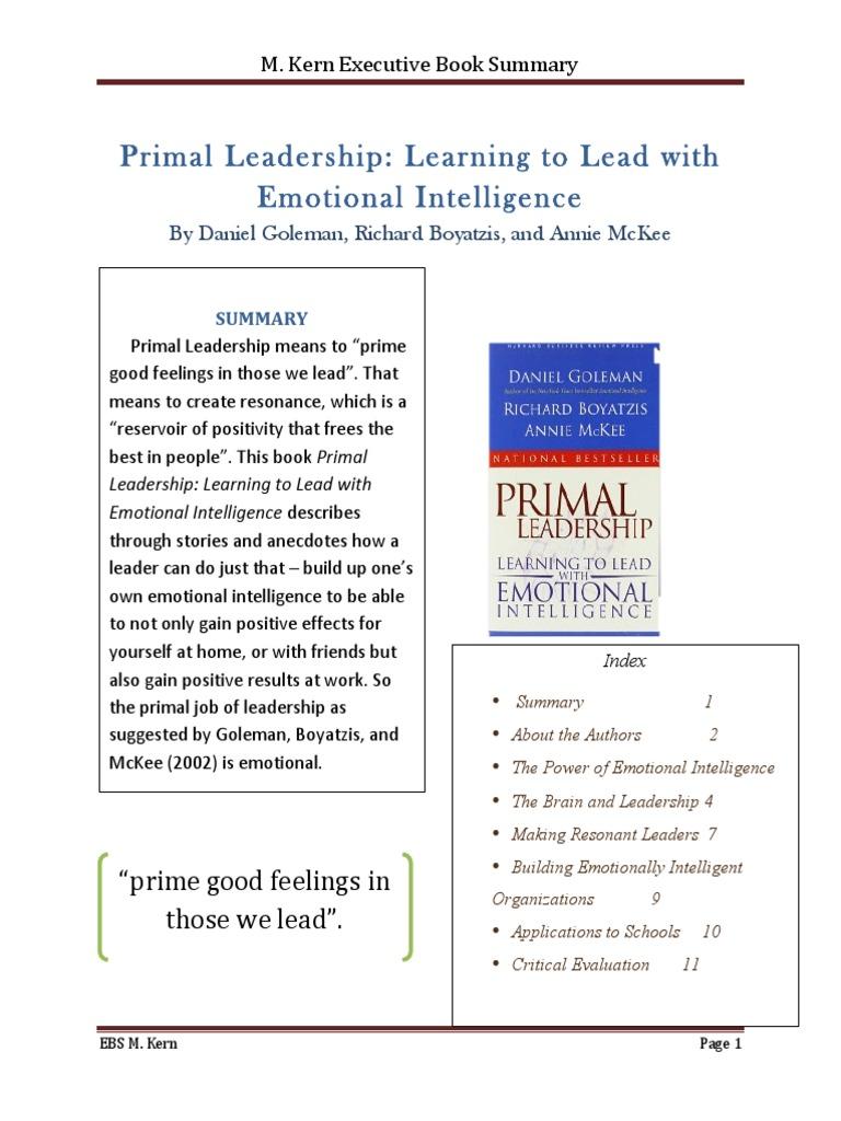 Merry Primal Leadership Goleman, Boyatzis & McKee EBS pdf
