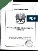 Reglamento de Régimen Interno Policia Boliviana