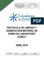 Poes Protocolopo de Limpieza y Desinfeccion de Material de Vidrio(1)