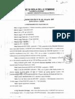 2007 6 Aprile Portobello Sindaco Concessione Area Cimiteriale 10.3.74 Lotto 59 a Licenza Edilizia 9 Impastato Giucastro Giuseppe Concessione Edilizia n. 09 Del 06-04-2007