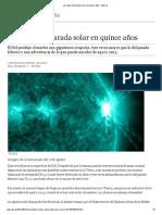 La Mayor Llamarada Solar en Quince Años - ABC