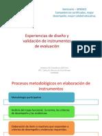 Experiencias de Diseño y Validación de Instrumentos de Evaluación - CARLOS MONTES de OCA