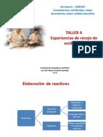 Instituto de Contadores - Experiencias de Recojo de Evidencias (Taller 4)