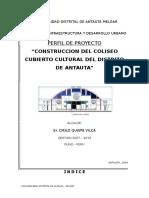 Perfil Coliseo Cubierto Cultural Antauta