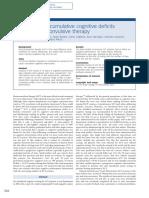 Evaluacion de Afectacion Cognitiva Por Electrterapia