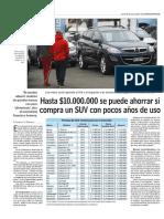 Hasta $10.000.000 se puede ahorrar si compra un SUV con pocos años de uso - www.lun.pdf