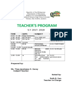 Teachers Prog