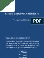 estudio de hábitos y hábitat