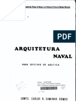 Arquitetura Naval Para Oficiais de Náutica Comte. Caminha