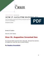 Stephen Greenblatt -- How St. Augustine Invented Sex